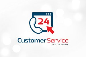 Customer Service Web 24 Hours Logo