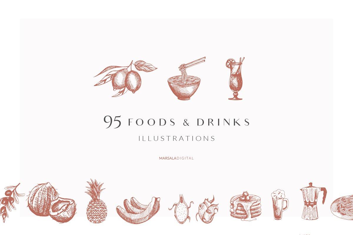 Foods & Drinks Logo Elements