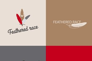 Feather logo templates