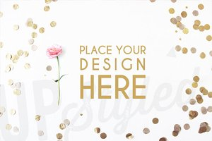A137 Gold Confetti Styled Mock Up