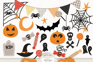 Vector Halloween digital pack