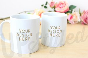 F164 Two Mugs Styled Mock Up