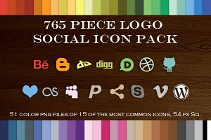 765 Piece Logo Social Icon Pack 2