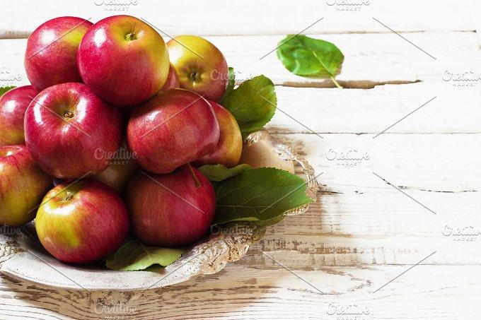 Fresh harvest of apples.Nature fruit concept. - Food & Drink