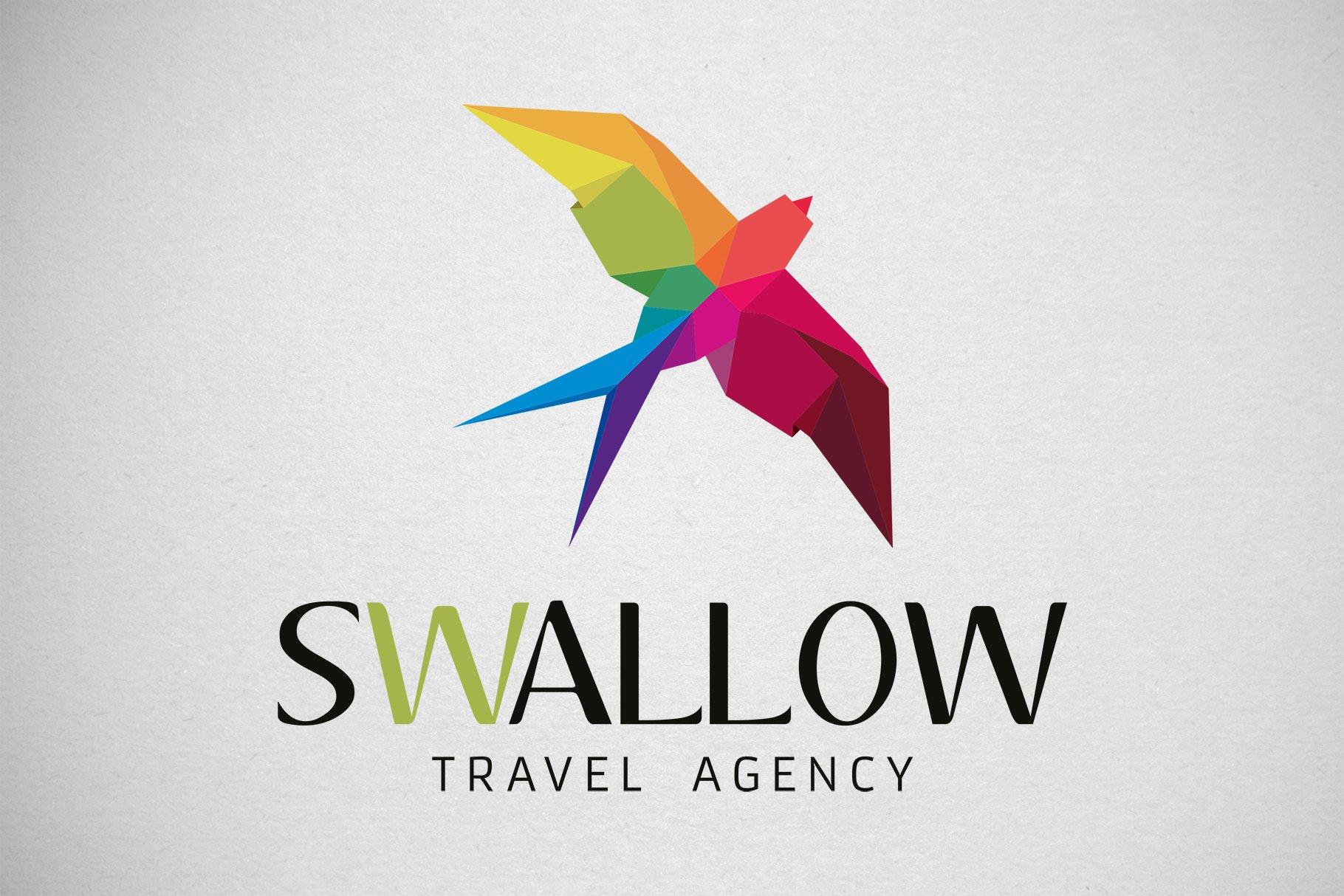 swallow vector logo creative illustrator templates creative market swallow vector logo creative