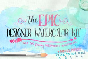 SALE: Epic Designer Watercolor Kit