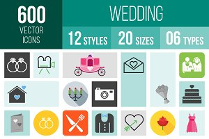 600 Wedding Icons