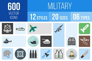 600 Military Icons