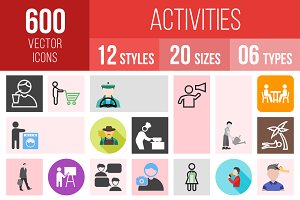 600 Activities Icons