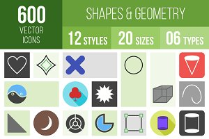 600 Shapes & Geometry Icons