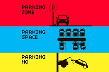 8 bit signs for Parking