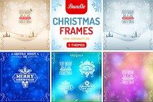Retro Christmas Frames