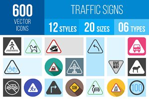 600 Traffic Signs Icons