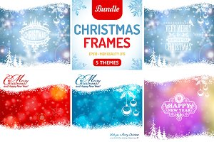Retro Christmas Frames