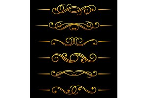 Golden vintage dividers