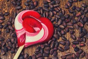 Caramel lollipop