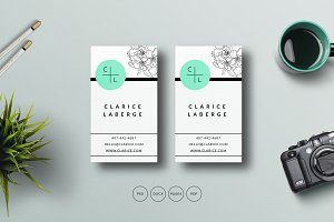 Business Card Template Fashion Style