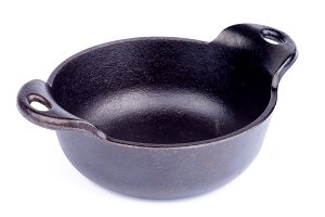 Black Cast-iron Stew Pot