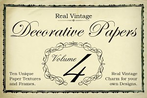 Real Vintage Decorative Papers Vol 4