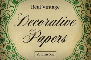 Real Vintage Decorative Papers Vol 1