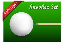 Set of 5 Snooker (Billiard) Designs