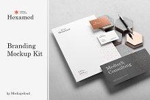 Hexamed Branding Mockup by  in Mockups