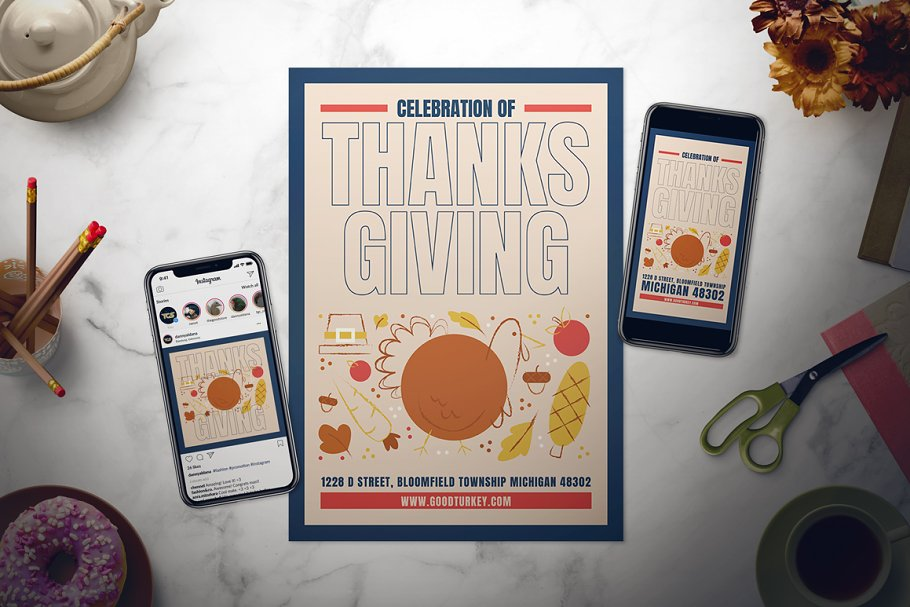 Thanksgiving Flyer Set