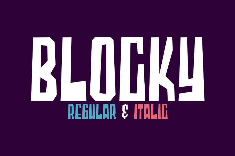 Blocky - 2 Styled Font