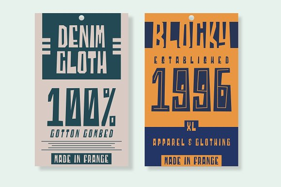 Blocky - 2 Styled Font in Display Fonts - product preview 2