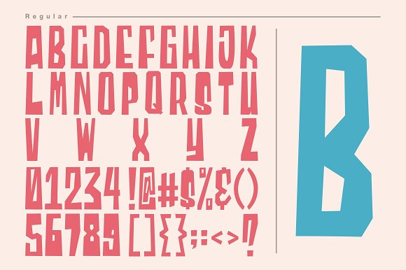Blocky - 2 Styled Font in Display Fonts - product preview 4