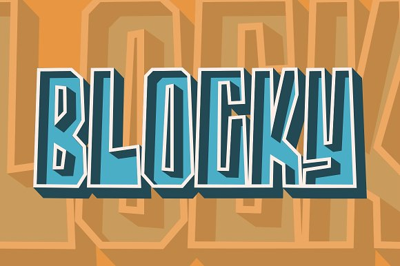 Blocky - 2 Styled Font in Display Fonts - product preview 8