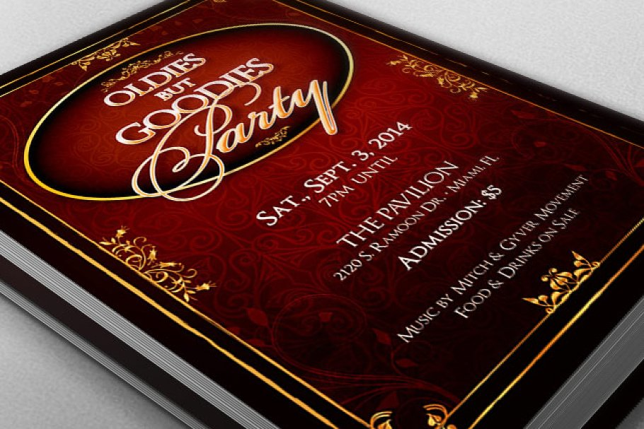 Oldies But Goodies Party Flyer