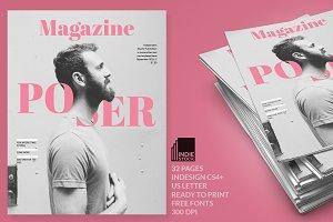 Poser Magazine Template