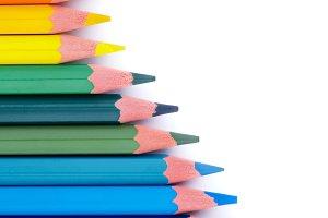Colorful Pencils Wave