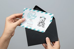 Teddy Bear Baby Shower Invite