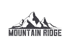 Mountains ridge-vector logo.
