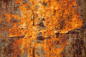 Oxidated metal surface