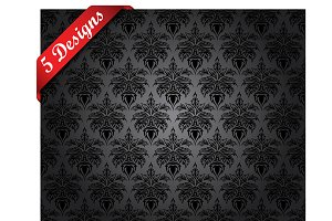 5 Damask Seamless Patterns
