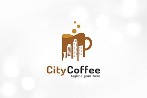 CIty Coffee Logo Template