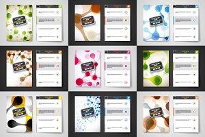 Set of brochures in molecule style