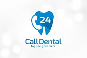 Call Dental 24 Hours Logo Template