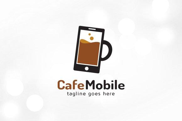 Cafe mobile water mobile logo logo templates creative for Mobile logo