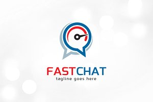 Fast Chat Logo Template
