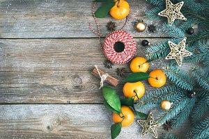 Christmas decoration background set