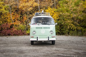 VW Bus in the Fall