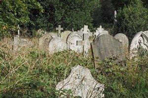 Ancient gothic churchyard