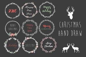 Christmas hand draw