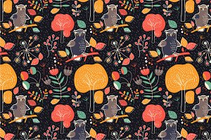 "seamless pattern ""Owls"""