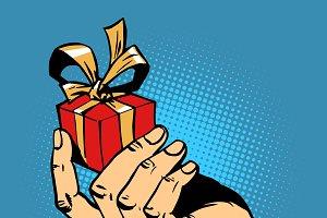 gift hand small box