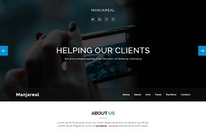 Manjareal - Responsive One Page